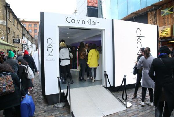 Calvin Klein Shipping Container conversion experiential pop-up event