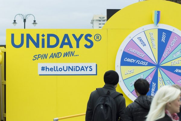 UNiDAYS Shipping Container conversion experiential pop-up event