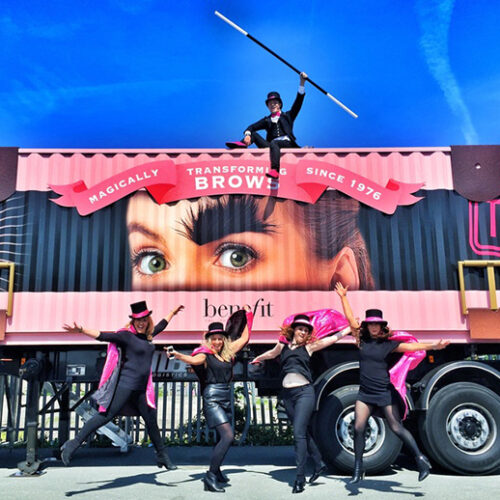 Benefit Cosmetics Shipping Container conversion experiential pop-up event