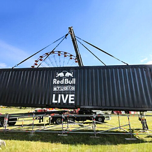 Red Bull Shipping Container conversion experiential pop-up event