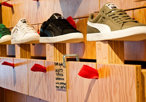 Puma Shipping Container conversion experiential pop-up event