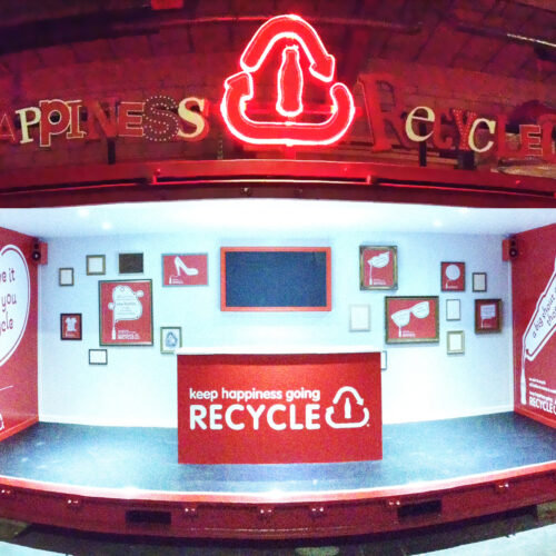 Coca Cola Happiness RecycledShipping Container conversion experiential pop-up event