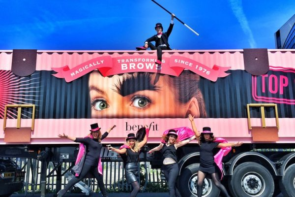 Benefit Shipping Container conversion experiential pop-up event