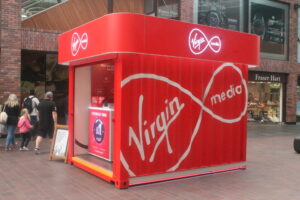 Virgin Media shipping container