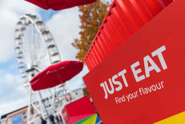 Just Eat Shipping Container conversion experiential pop-up event