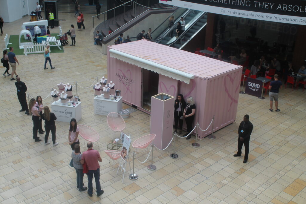 Victoria Secret pop-up retail, brand experience, pop-up shops, experiential marketing