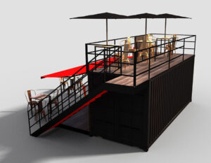 Creative Spaces Shipping Container Conversion Specialists Events Mock-up Design