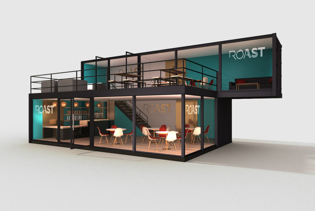 Cafe in Crate, cafe shipping container conversion